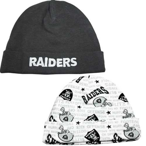 NFL Oakland Raiders Infant Cap Set, Pack of 2, 0-6 Months