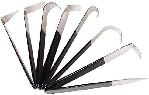 Juego de 8 cuchillos de acero inoxidable con forma de ...