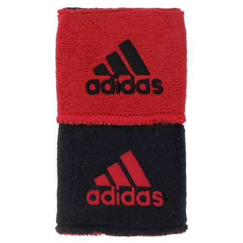 Red Baseball Wristband (adidas Interval Reversible Wristband, Black/University Red/University Red/Black, One Size Fits All)