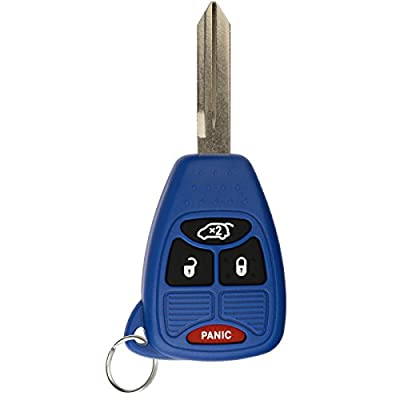 KeylessOption Keyless Entry Remote Control Uncut Car Key Fob Replacement for OHT692427AA KOBDT04A Blue: Automotive