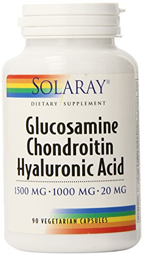 Solaray Glucosamine Chondroitin and Hyaluronic Acid, 1500mg/1000mg/20mg, 90 Capsules