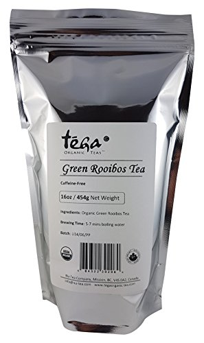 Tega Organic Rooibos Tea, Pure Green, 16 Ounce