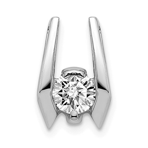 Jewelry Pendants & Charms Slides 14k White Gold AAA Diamond slide ()