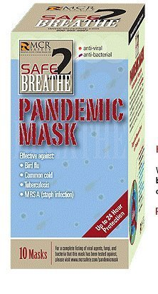 Safe2Breathe Pandemic Protection Mask Pack Of 3 by Safe2Breathe Pandemic Protection by MCR