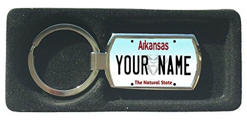 (BleuReign(TM) Personalized Custom Name Arkansas State License Plate Metal Keychain)