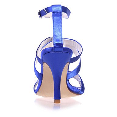 LvYuan Mujer-Tacón Stiletto-Punta AbiertaBoda / Fiesta y Noche-Satén-Negro / Azul / Rosa / Morado / Marfil / Blanco / Champán champagne