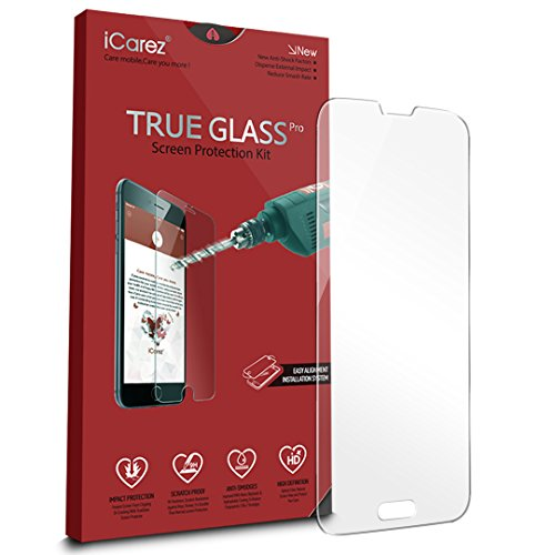 S5 Screen Protector, iCarez [Tempered Glass] Screen Protector for Samsung Galaxy S5 Anti Scratch Premium [1-Pack, 0.33mm 9H, 2.5D] Easy to Install