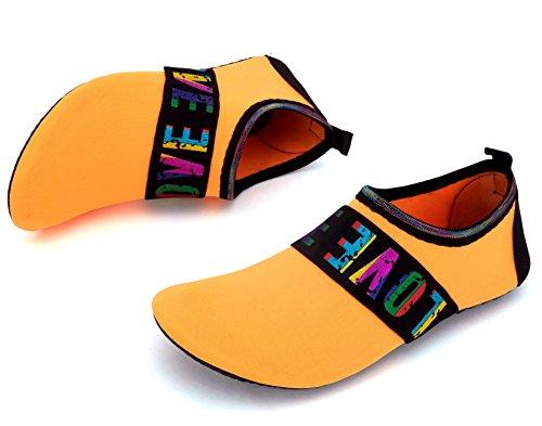 Giotto Sport Vann Sko Svømme Yoga Stranden Aqua Sokker For Kvinner Menn Kjærlighet / Orange