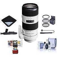 Sony 70-200mm f/2.8 G-Series II (Alpha) Mount Digital SLR Zoom Lens - Bundle With Mac Software Package, 77mm Filter Kit, Lens Wrap (19x19), LensPen Lens Cleaner, Capleash, Cleaning Kit,