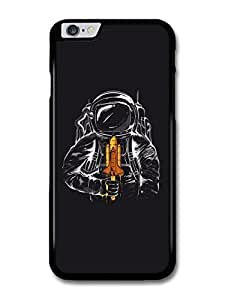 """AMAF ? Accessories Astronaut Illustration Space Shuttle Ice Cream case for iPhone 6 Plus (5.5"""") wangjiang maoyi"""