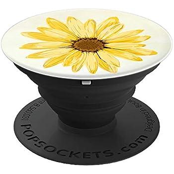 Amazon Com Sunflower Pop Socket White Letter E Phone