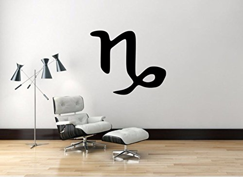 Capricorn Sign Decal, Capricorn Zodiac Wall Sticker, Zodiac Symbol Wall Décor