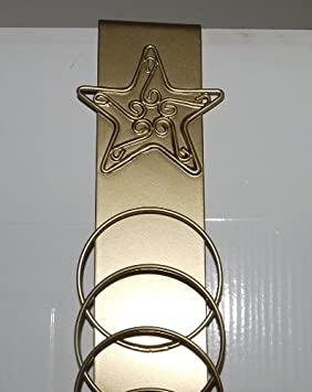 Amazon.com Over Door Christmas Card Holder (GOLD-STAR) Kitchen u0026 Dining & Amazon.com: Over Door Christmas Card Holder (GOLD-STAR): Kitchen ...