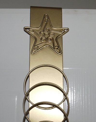 Amazoncom Over Door Christmas Card Holder Gold Star Home Kitchen