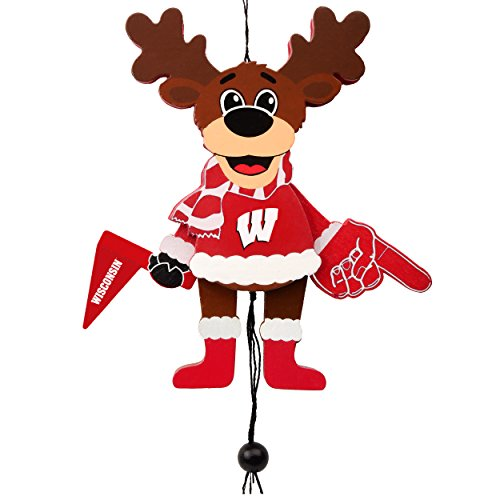 Forever Collectibles Wisconsin Badgers Official NCAA Holiday Christmas Ornament Cheering Reindeer by 498896 ()