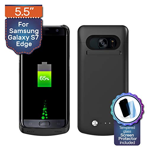 Never Run Out Samsung Galaxy S7 Edge Backup Battery Charger Protective Case, Fast-Charging 5200mAh Power Bank. Upgrade to 240%