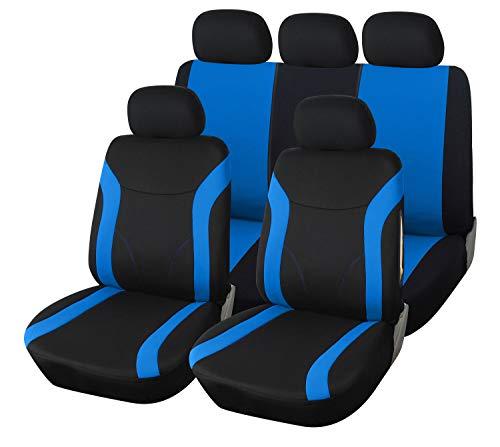 Upgrade4cars Autostoelhoezen set blauw zwart | Auto stoelhoezen Universal | Auto accessoires interieur stoelhoezen B2…
