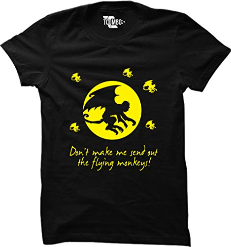Don't Make Me Send Out The Flying Monkeys Women's T-Shirt (Black, X-Large) ()