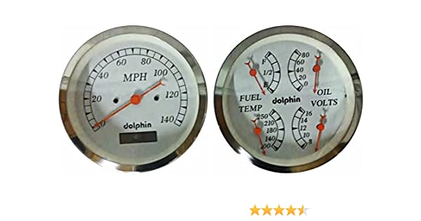 Awesome Amazon Com Dolphin Gauges 3 3 8 Quad Electronic Gauge Sets White Wiring 101 Akebretraxxcnl
