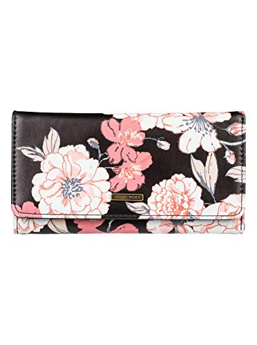 (Roxy MY Long Eyes Wallet, Anthracite s New Flowers)