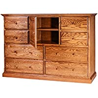 Forest Designs Traditional Oak Entertainment Chest, 60W x 41H x 18D, Honey Oak