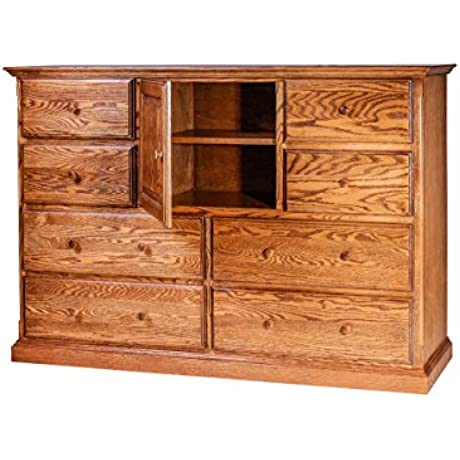 Forest Designs Traditional Oak Entertainment Chest 60 W X 41 H X 18 D Golden Oak