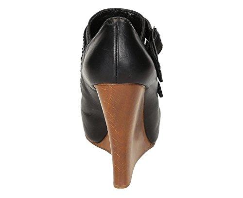 Chloé Femme Cuir CH717100333 Chaussures Compensées Noir 4WUafOwq4