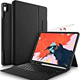 IVSO Case with Keyboard for ipad pro 12.9 2018 - Lightweight One-Piece Wireless Keyboard Stand Case/Cover [Auto Wake/Sleep] [Apple Pencil Charging Supported] Fit for Apple ipad pro 12.9 2018 (Black)