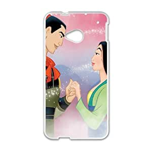 HTC One M7 Cell Phone Case White Disney Mulan Character General Li 006 YD732477