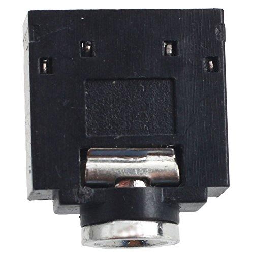 SODIAL(R) 10 Pcs 3 Pin PCB Mount Female 3.5mm Stereo Jack Socket - Names Female Kong Hong