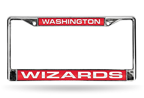 NBA Washington Wizards Laser Cut Inlaid Standard Chrome License Plate Frame Chrome