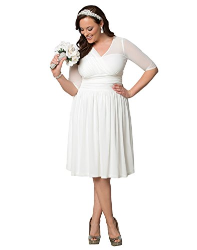 Kiyonna Women's Plus Size Forever Yours Wedding Dress 1X Soft White
