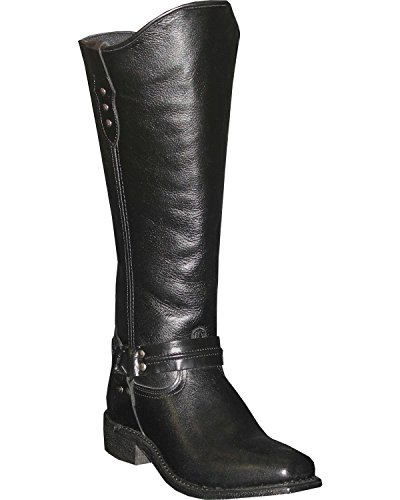 Abileen Womens Paardensport Wellington Laars Vierkant Teen - 9196 Zwart