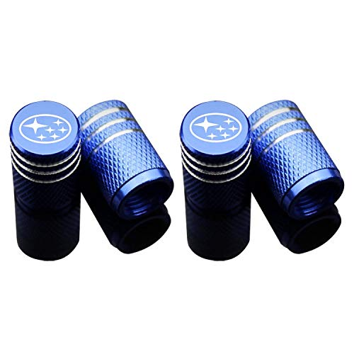 Car Tire Air Valve Caps Auto Wheel Tyre Dust Stems Cover with Logo Emblem Waterproof DustProof Universal fit for Cars SUV Truck Motorcycles 4 Pieces