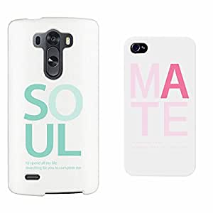 365 Printing Soul Mate White Matching Couple Phone Cases Valentine's Day Gifts