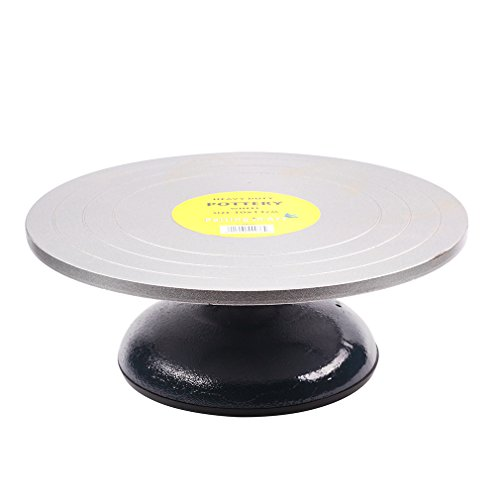 Falling in Art Heavy Duty Metal Decorating Pottery Banding Wheel(12 inches in diameter)