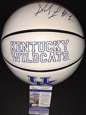 Skal Labissiere Autographed Signed Kentucky Wildcats Logo Basketball JSA COA 3