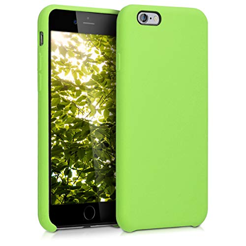 kwmobile TPU Silicone Case for Apple iPhone 6 / 6S - Soft Flexible Rubber Protective Cover - Green