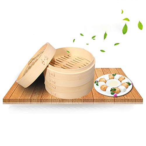 Gano Zen One Cage and One Cover Cooking Bamboo Steamer - Fish Rice Vegetable Snack Basket Set Kitchen - Cooking Tools by Gano Zen (Image #5)