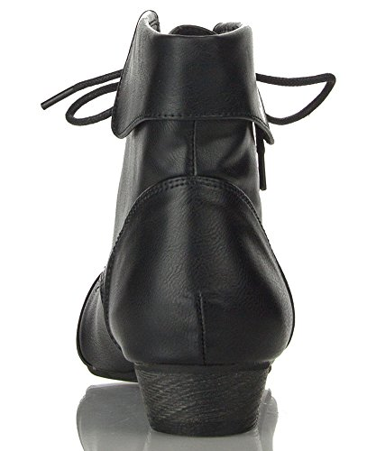 Breckelles - Ladies Indy-11 Bootie Boot New Black Pu (6)