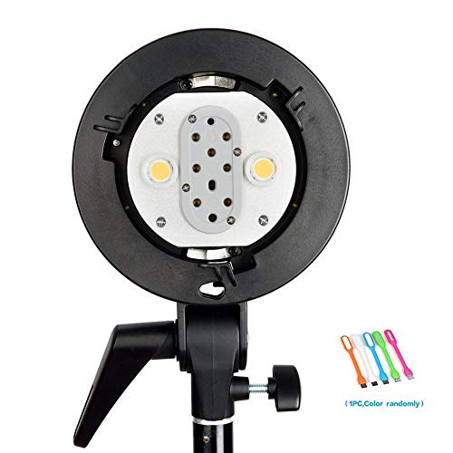 - Godox AD-B2 Dual Tubes Light Head S-Type Bowens Mount Flash Light Head Holder Bracket Compatible for Godox AD200 Speedlite Achieve 400W Power Output with CONXTRUE USB LED