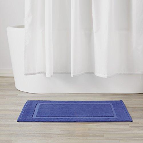 amazonbasics banded bath mat navy blue home garden bathroom accessories mats rugs. Black Bedroom Furniture Sets. Home Design Ideas