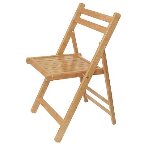 SoBuy® Silla plegable, silla de cocina, silla de bambú ...