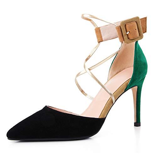 Ya Femmes liangxie High Sexy Été Femme Black Ai Chaussures Heels Pompes À Bride eWrxCBdo