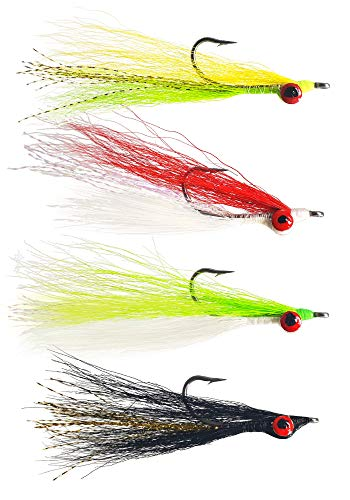 The Fly Crate Clouser Minnow Streamer Assortment | Fly Fishing for Trout Bass Pike (16 Variety -