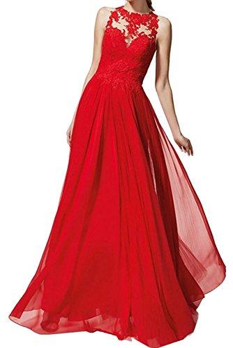 La Rot Brautmutterkleider Marie Kleider Jugendweihe Spitze Neu Chiffon Langes Abendkleider Damen Braut OOxSqwPr