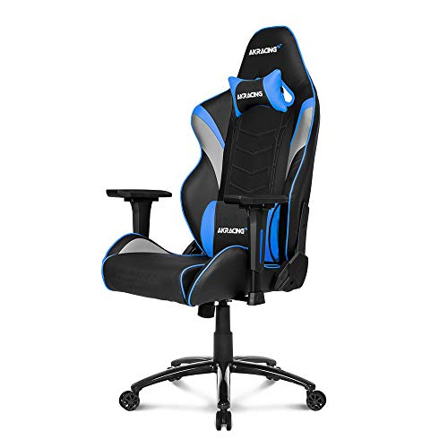 (AKRacing Core Series LX Gaming Chair with High Backrest, Recliner, Swivel, Tilt, Rocker and Seat Height Adjustment Mechanisms with 5/10 Warranty - Blue)