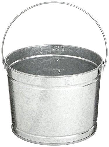 Bucket 5 Quart Metal Pail (Magnolia Brush 5 5-Quart Metal Galvanized Paint Pail (12 per Case))