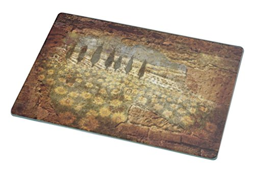 Rikki Knight Orchard Fragment From The Past Large Glass Cutting Board - Orchard Glass Cutting Board