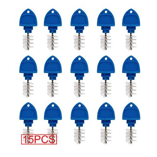 15 Pack Beer Tap Plug Brush, Beer Faucet Brush Plugs,Beer Faucet Tap Cleaning Plug (Blue) (Beer Faucet Cleaner)